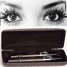 femmes Unique imperméable résistant maquillage 3D Fibre Mascara cils Set Noir