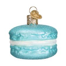 Old World Christmas BLUE MACARON (32242)N Glass Ornament w/OWC Box