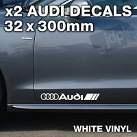 AUDI 2 x DOOR / SIDE SKIRT DECALS VINYL STICKERS - For all Models - WHITE