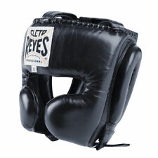 Cleto Reyes Head Guard Boxing Headguard with Cheek Protection Black Elite Pro