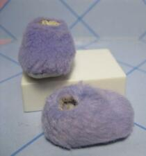 FITS SKIPPER/Flat Foot BARBIE Doll Cloth-Purple LOUNGE Fuzzy Bedroom PJ SLIPPERS