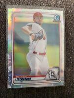 2020 Bowman Draft Chrome Refractor BD198 Matthew Liberatore Cardinals