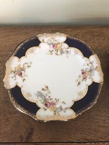 Vintage Blue Floral Tea Plates X6