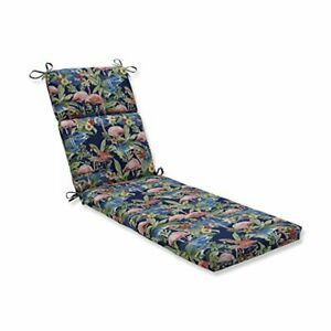 """Pillow Perfect Outdoor/Indoor Flamingoing Lagoon Chaise Lounge Cushion 72.5"""" ..."""
