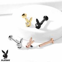 6 mm Playboy Bunny Labret Conch Tragus Helix Daith Ear Cartilage Piercing 16G