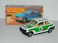 MATCHBOX LESNEY SUPERFAST RALLYE LE CAR RENAULT 5 TL No.21 VNM IN K BOX 1978