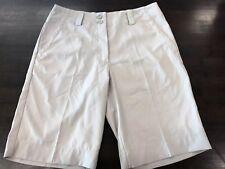 Women's NIKE GOLF BERMUDA Dri-Fit Shorts Size 2 Beige