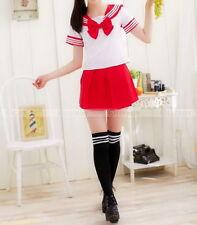 Girls Japanese Student Adult School Uniform Dress Anime Cosplay Sailor Costume*1