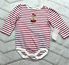 NWT GYMBOREE BABY GIRL HOLIDAY CHRISTMAS RED WHITE STRIPED OUTFIT SUIT 6-12 MOS