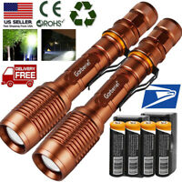 Powerful Police Tactical Zoomable T6 LED 5 Modes 18650 Flashlight Torch Powerful
