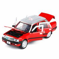 1:32 Hong Kong Taxi Toyota Crown Die Cast Modellauto Spielzeug Ton & Licht Rot