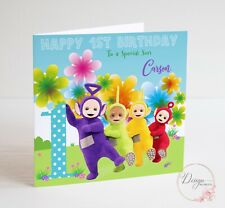 PERSONALISED TELETUBBIES Birthday Card - SON GRANDSON NEPHEW 1 2 3 4 5