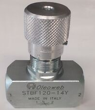 "Hydraulic Oil Flow Control Valve 3/4"" BSP Ports 400BAR 6000PSI"