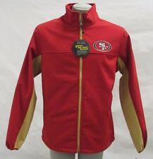 San Francisco 49ers NFL Para Hombre Rojo Full Zip chaqueta de cáscara suave de base Therma