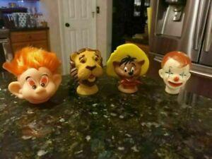 Vtg vinyl doll puppet heads Clown Speedy Gonzalez Troll & The Wizard of Oz Lion