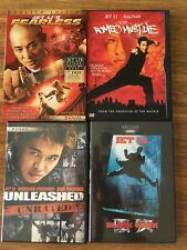 Lot of 4 Jet Li DVDs. Includes Romeo Must Die, Fearless