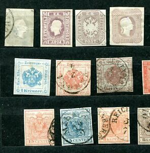 AUSTRIA - Small collection classic material MH/Canc/Mint no gum