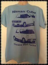 BLUE Nissan Cube The box that rocks Tee shirt T-Shirt Z11 Gen2 Rider JDM Import