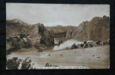 """c1910 Denver & Rio Grand Railway """"GARDEN OF THE GODS"""" RPPC D & RG NICE SHAPE"""