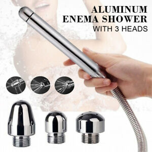 Enema Shower Cleaning Colon Anal Vaginal Douche Water Kit+Nozzle 3 Style Heads