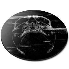 Round Mouse Mat (bw) - Digital Glitch Art Neon Skill  #42800