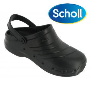 Zoccoli neri leggeri Dr. Scholl ciabatte gomma 36-37 con cinturino mod Worklight
