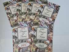 LOT OF VINTAGE PAGES OF TIME NOSTALGIC NEWS REPORT BOOKLETS  ~ 1936-1989 - RARE!