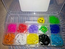 Lot of 11 New Rainbow Rubber band crochet Bracelet Craft Kits  Party Favors
