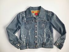 APPLE BOTTOMS  GIRLS   BLUE DENIM  JACKET (B11) SZ 5 - 6