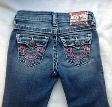 True Religion Girls Pink Rainbow Joey Jeans size 6 EUC