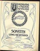 Beethoven ~ Sonaten Band II Nr. 9 - Nr. 16 ~ privat gebunden