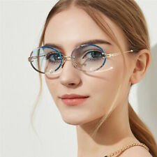 2021 Rimless Oval Sunglasses For Women Gradient Lens Shades Glasses Eyewear Top