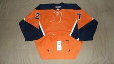 New York Islanders Orange Alternate #27 CCM PRO Fight Strap NHL Hockey Jersey 52