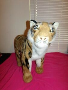 Fao Schwartz Giant Standing Bengal Tiger Plush Sit On 35x28 Inches Huge.
