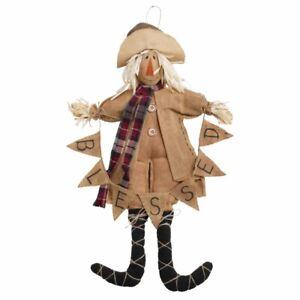 Mud Pie H0 Fall Thanksgiving Decor Burlap 15'' H Large Scarecrow Doll 42600637