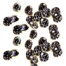 Moissanite Diamond Lot 4 Ring 4.60ct Vvs1-5pc/6.20-6.60mm Gray Brown Loose Round
