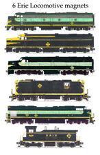 Erie Railroad Locomotives 6 magnets Andy Fletcher