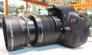 HD WIDE ANGLE LENS + MACRO FOR CANON EOS RBEL DIGITAL T6 T5 i SL1 XTI w50MM 35MM