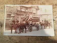 More details for real photo postcard. horse drawn coach trip lonsdale hotel.  ref180