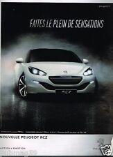 Publicité advertising 2013 Peugeot RCZ