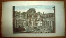 Vue d'optique TEMPLE DE BAALSHAMIN ou DU SOLEIL A PALMYRE gravure du XVIIIeme