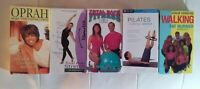 Lot of VHS Exercise/Health Tapes (5) Oprah, Stretching Dr. Barron, Fat Burn NTSC
