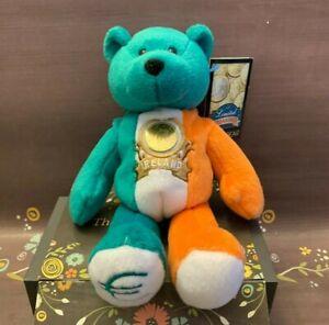 "EURO BEAR Euro Coin Collectible 9"" Stuffed Bear Limited Treasures Ireland NWT"