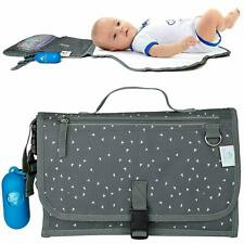 Portable Changing Pad Nappy Clutch Baby Changing Station with Dispenser