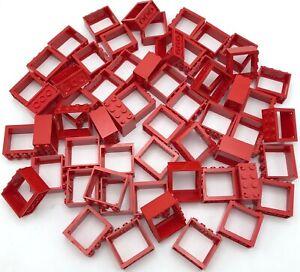 Lego Grand Lot de Rouge Fenêtre Cadres Ville City Pièces