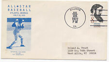 US 1972 Event Cover All-Star Baseball Game Atlanta Georgia Sports