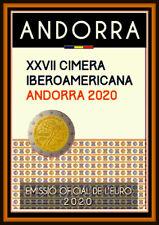 2 Euro Gedenkmünze Andorra 2020 - 27. Iberoamerika-Gipfel in Andorra - Coin Card