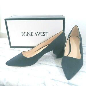 """New Nine West Women's Ike Navy Blue Pumps Size 8.5 M NW7IKE 2"""" heel Faux Suede"""