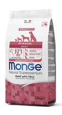 Monge Superpremium All Breeds Adult Monoproteico Manzo e Riso 12 kg