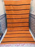 "Vintage Moroccan Rug Handmade Tribal Azilal Rug Carpet wool Berber 10'1"" x 5'4"""